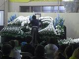 浜松生花卸売市場での葬儀用生花祭壇講習会の様子5